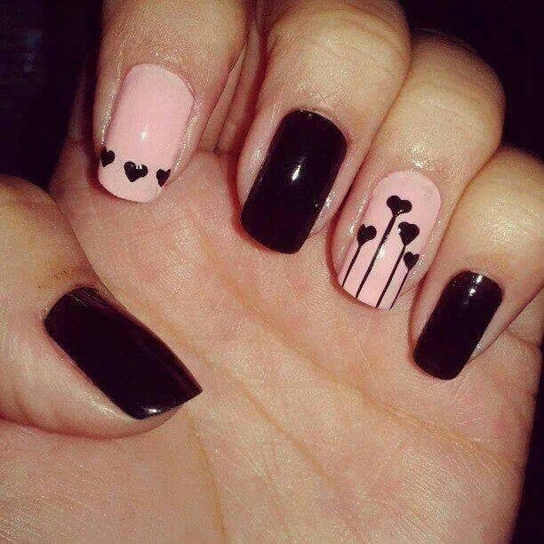 2. These hearts aren't bleeding. They just have strong roots. - 26 Ridiculously Sweet Valentine's Day Nail Art Designs
