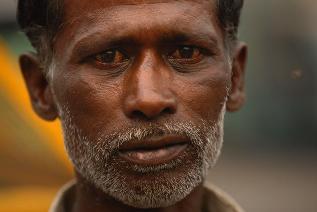 3. Man in Delhi, India.
