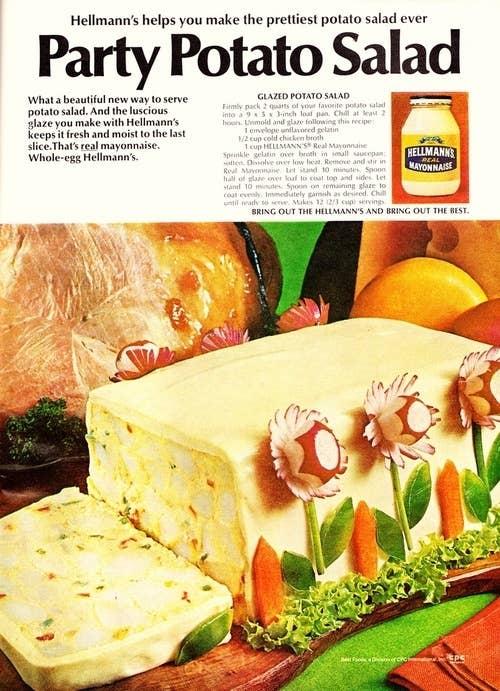 21 truly upsetting vintage recipes 18 glazed potato salad forumfinder Gallery