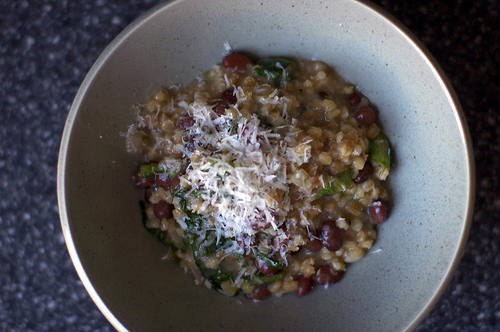 Barley Risotto with Beans and Greens
