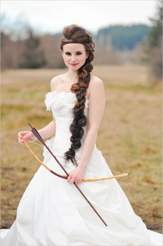 Katniss wedding dress look a like
