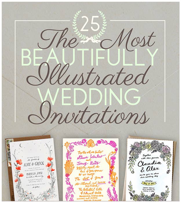The 25 Most Beautifully Illustrated Wedding Invites – Most Beautiful Wedding Invitations