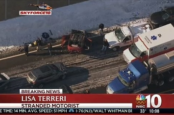 100 Cars Crash In Huge Pennsylvania Pileup Chain