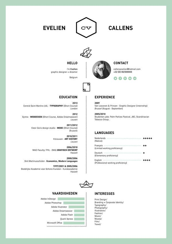 the one color rsum - Minimalist Resume Template