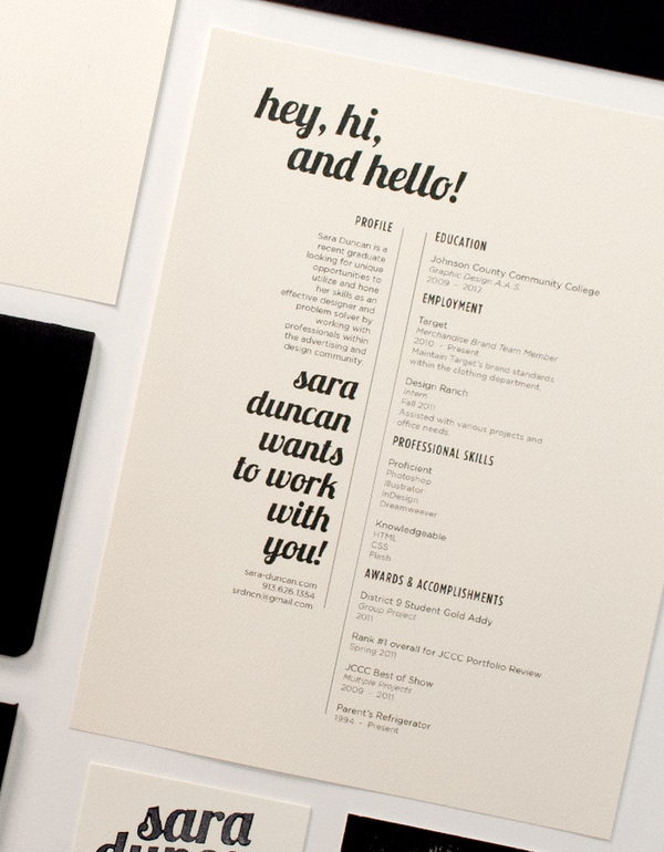 The Black, White, And Minimalist Résumé:  Font For A Resume