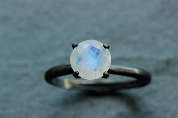 Fun fact: if you present a moonstone to your significant other during a full moon, it is supposed to bring everlasting passion to the relationship.From Etsy