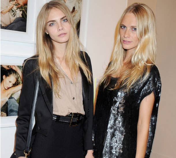 """""""So, Mrs Delevigne, what does your daughter do?"""" """"Well, it's funny you should ask. She's one of the most in demand models in the world and the British press are basically at her feet."""" """"Oh... wow.. I... and your other daughter?""""""""Well, it's funny you should ask..."""""""
