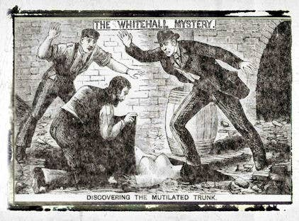 Though Jack The Ripper went on to become Victorian London's most famous monster, the lesser-known murder known as The Whitehall Mystery proves to be just as chilling.In October 1888, workers discovered a woman's torso in a sealed underground vault on the site of Scotland Yard. Over the following weeks further discoveries were made along the Thames: a leg and an arm belonging to the same person.Though police discounted the idea that this was the work of Jack The Ripper, neither the victim nor her killer were ever identified. Of course, London's police headquarters being built on an unsolved crime scene still raises the odd eyebrow.