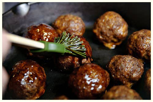 Sweet and savory in one mind-blowing meatball. Get the recipe.