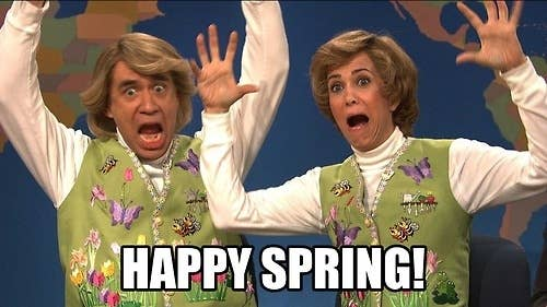 Spring means flowers. And embroidered vests.