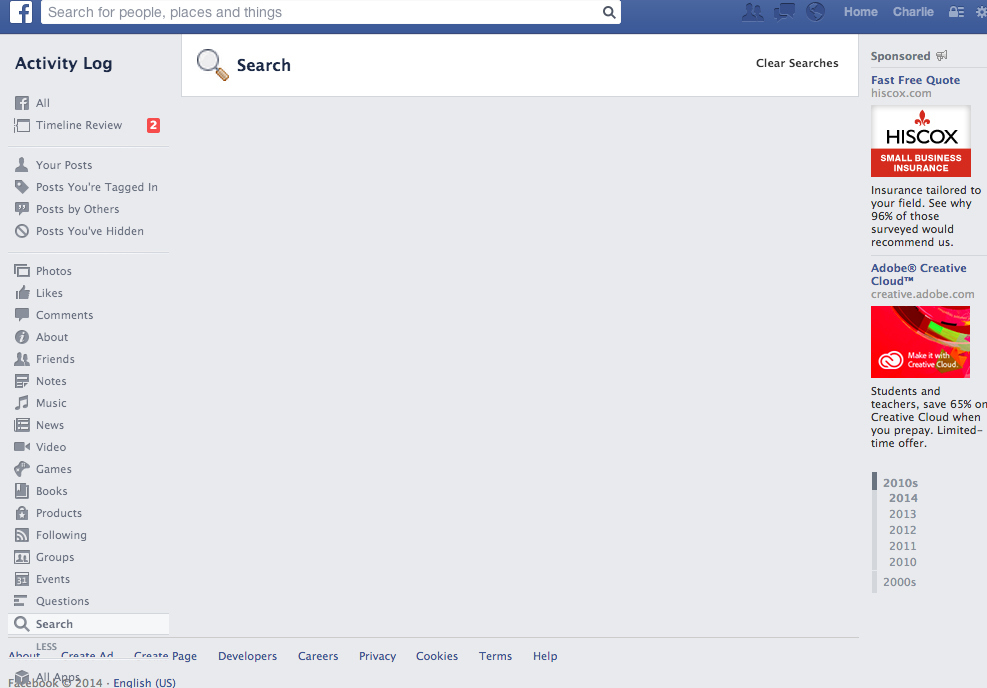You Can View Your Facebook Search History And It Is The