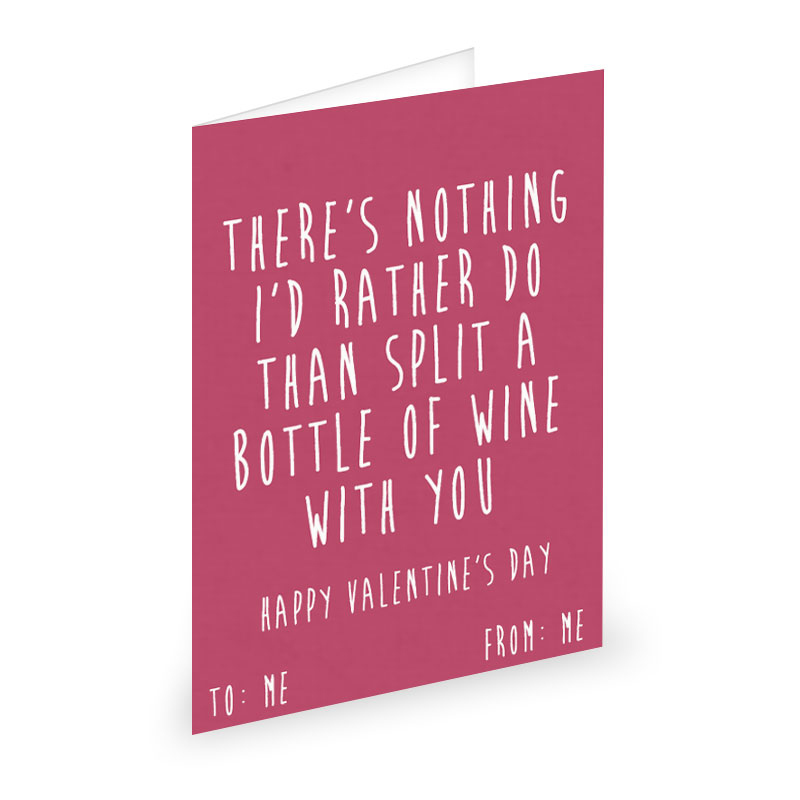 Valentine's Cards For Single People To Give To Themselves