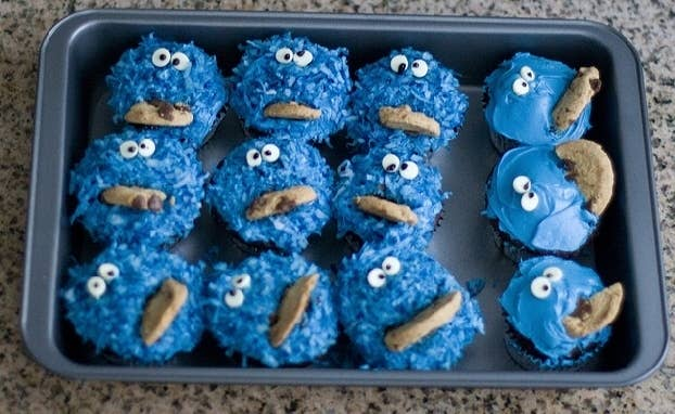Real cookies would make the Muppet greasy, explains David Borgenicht in his book, Sesame Street Unpaved.