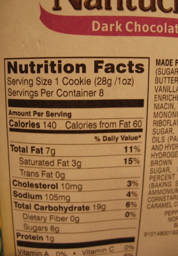 Consumption of chocolate chip cookies INCREASED 10% following the introduction of detailed Nutrition Facts labels.
