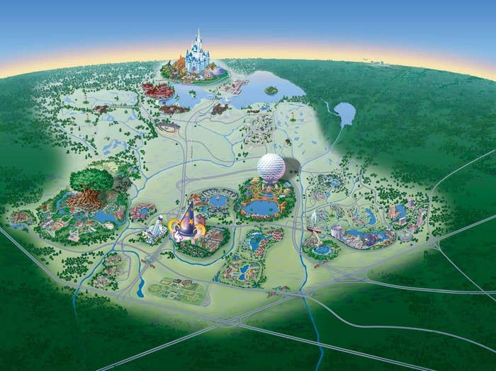 4 theme parks, 35 resorts, 4 golf courses, 2 water parks, ESPN sports complex, Downtown Disney.....