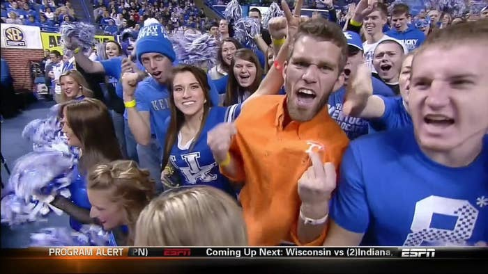 This guy pretty much sums up how every Vols fan felt on that night. Tennessee has won in Rupp Arena in 1977, 1979, 1999, and 2006.