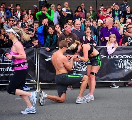 Endorphins + proposal = possibly the best day ever.Read more about the proposal here.