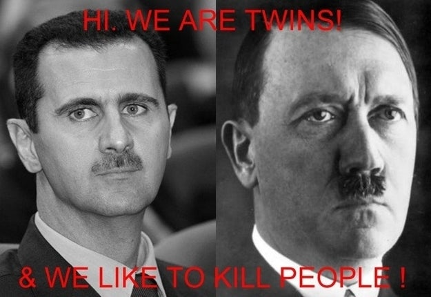 …well, Assad has yet to join Hitler there.