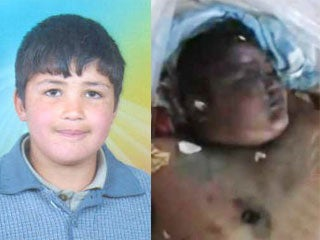 Anyone who dares oppose Assad and his regime automatically become terrorists and targets for Assad's army…including young children like 13 y.o. Hamza al Khateeb. Hamza was arrested during a rally in April 2011, detained for a month, then returned to his family as a mutilated corpse with welts, cigarette burns and wounds from bullets fired to injure, not to kill. His kneecaps were smashed, neck broken, his jaw shattered and genitals cut off.