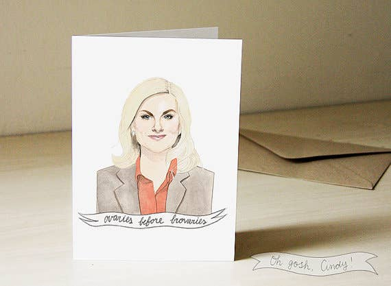 Three different versions. Three inspiring Leslie Knope quotes.
