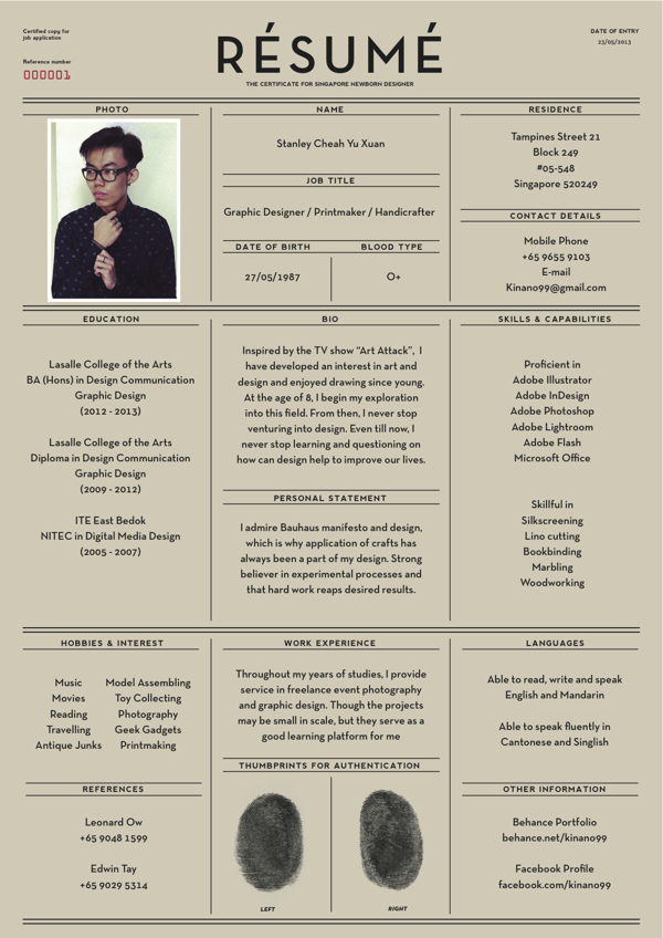 Resume Designer mint resume View This Image