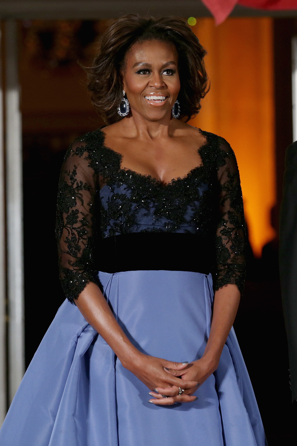 Check Out Michelle Obama S Fabulous French State Dinner Dress