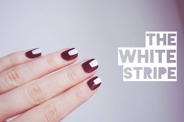 25 eye catching minimalist nail art designs 2 so is a single stripe prinsesfo Gallery