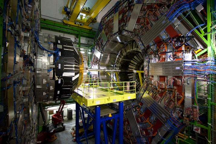 The Compact Muon Solenoid, detector at the Large Hadron Collider.