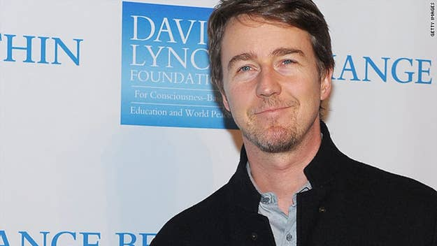 Edward Norton has a long history of activism, from running the New York Marathon for charity to promoting environmental responsibility to helping families in need.