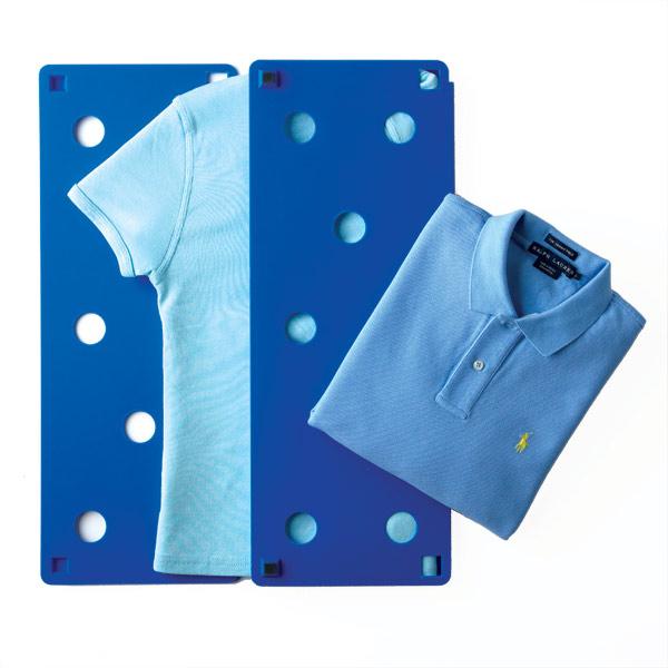 Para roupas super bem dobradas, invista em um dobrador de roupas.