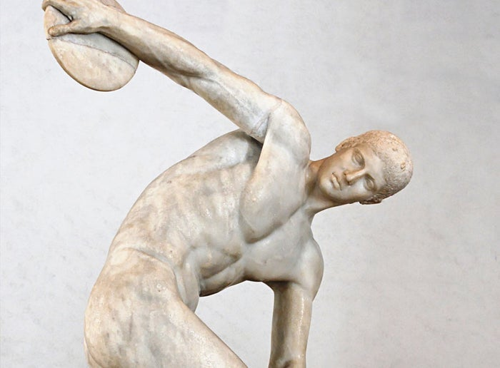 No uniform, no problem. Ancient Greek athletes often competed in the nude. At least there was no issue with what country their uniforms were made in.