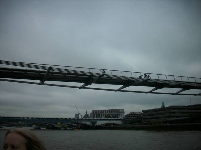 A quick trip down the Thames brought us to the Millennium Bridge, destroyed by Death Eaters in Harry Potter and the Half Blood Prince.