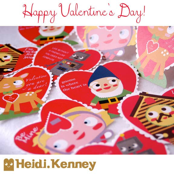 How cute are these retro themed valentines? There are 12 different sweet designs!