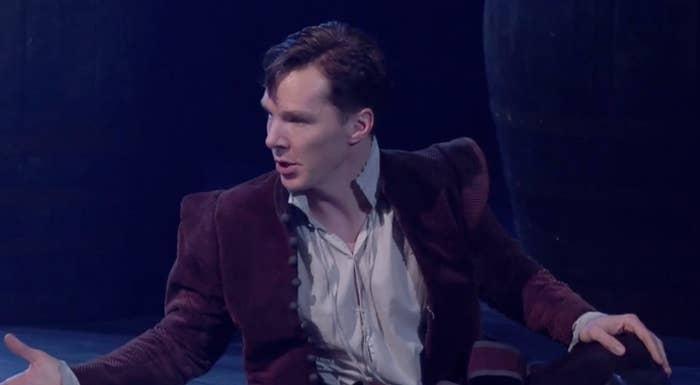 Benedict Cumberbatch played Rosencrantz to Kobna Holdbrook-Smith's Guildenstern in a scene from Tom Stoppard's Rosencrantz And Guildenstern Are Dead.