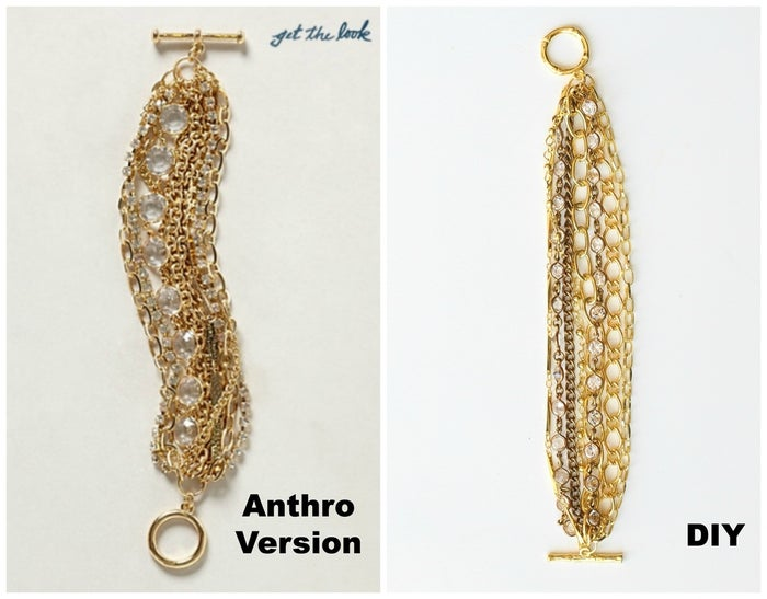 A chunky chain bracelet makes any outfit a little bit fancy. Andrea from For The Love Of created this DIY version of Anthro's original.