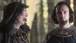 The guy on the left? He is a viking seer - pretty much the wise old medicine man and line to the Norse gods. The guy on the right is an enslaved Christian... for now.