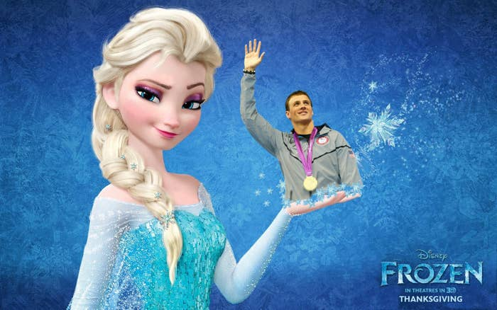 It may be wise for Elsa to go for someone who didn't grow up in a palace, yet still understands what it feels like for people to hold high expectations of you. And she could do worse than muscular Olympic medalist swimmer Ryan Lochte! It's pretty convenient too - wherever they go, she could make ice to then melt for him to swim in.