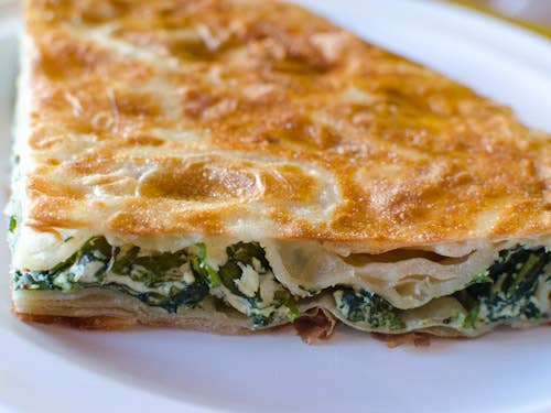 A delicious and savoury puff pastry that will fulfill your love/hate relationship with carbs. Some typical fillings for burek include feta cheese, spinach, minced meat and/or potatoes. Yes, the more carbs, the better.Check it out here.