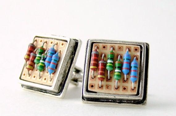 Resistor Cufflinks.