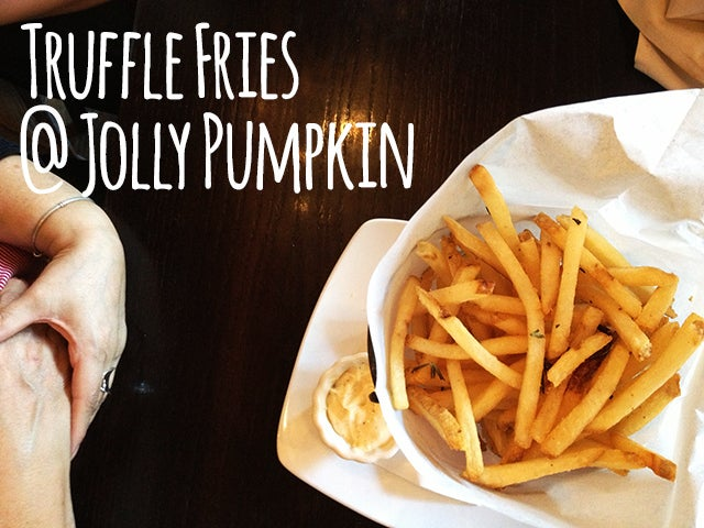 If you could have just one memory in life, it should be the taste of Jolly Pumpkin's truffle fries dipped in rosemary aioli melting in your mouth. OK, fine. You should remember your friends and family first. But then truffle fries.