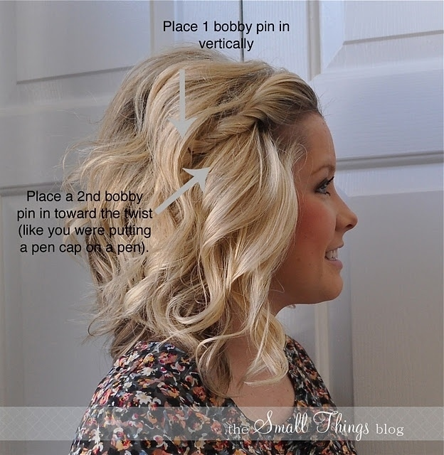 Not only is this hairstyle great if you're growing out your bangs, but it takes 10 seconds.