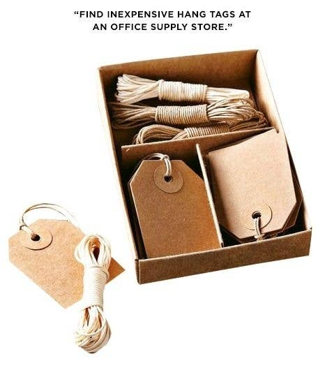 Puedes usarlas en perchas, cajas y bolsas de almacenamiento. (Además, ¡lucen realmente lindas!)