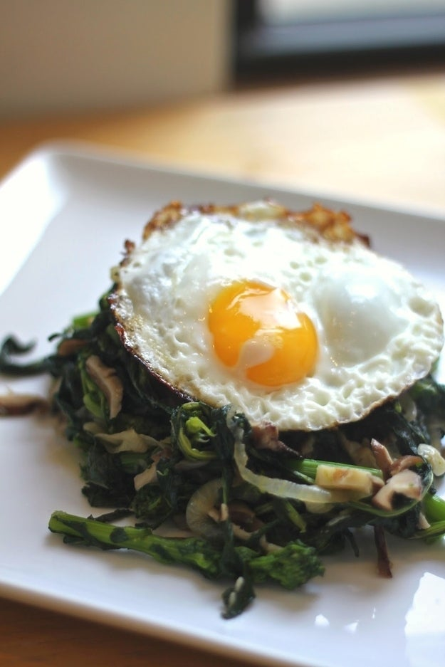 Everything's better with a fried egg on it. Recipe here.