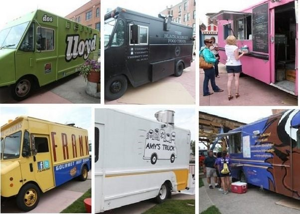 "Besides the ginormous selection of different types of restaurants, Buffalo's whimsical food trucks can be seen around town and all come together for ""Food Truck Tuesdays"" in Larkin Square. Live music. Free seating. Great food. Love."