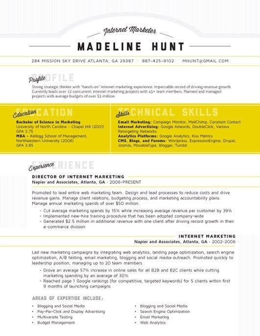 artsy resume templates artsy resume and matching cover letter 12