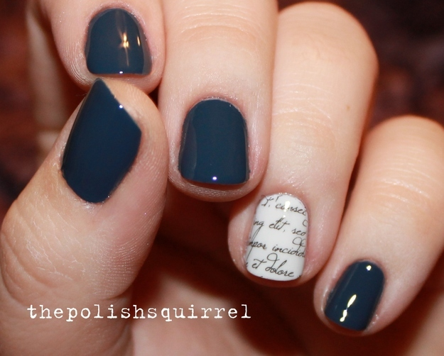 Decorate an accent nail.