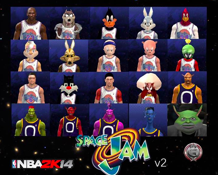 """This """"NBA 2K14"""" Space Jam Mod Is An Absolute Delight"""