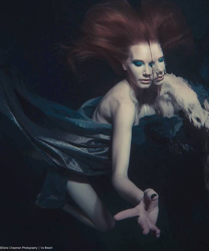Dana became enthralled by underwater photography about 10 years ago when he got certified as a SCUBA diver. Now, with the help of local makeup artists, he creates stunning images with local professional and amateur models, many of which had never modeled in water before.