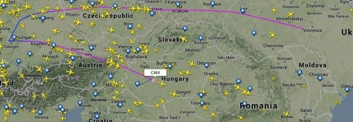 A (unverified) picture showing a chartered flight from Ukraine turning back after being denied entry to Germany on Thursday 20th February. Ensuring that Ukrainian officials are not welcome in Europe until the crisis has been peacefully resolved significantly isolates the Government from its regional and international partners. Ukrainian officials guilty of crimes will be unable to found safe haven abroad and further international pressure will aim to force Yanukovych to submit to European demands for a swift democratic agreement with the opposition.