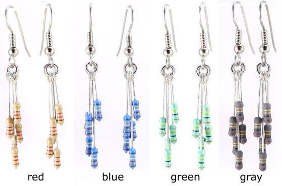 Resistor earrings.